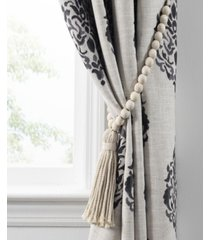 nomad decorative wooden bead curtain tieback with tassel
