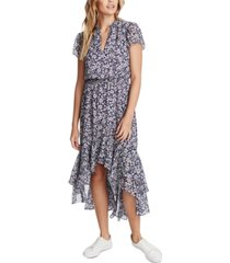 1.state floral-print high-low dress