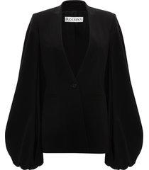 jw anderson v-neck bell sleeve jacket - black