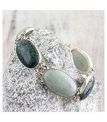 jade link bracelet, 'from the queen' (guatemala)