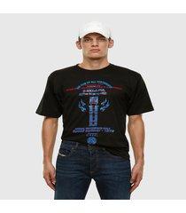 polera t tubolar x22 t shirt negro diesel