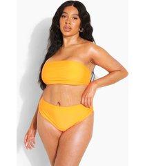 plus gerecyclede bandeau bikini top, orange