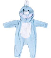 macacã£o pijama coelho azul. - azul - dafiti