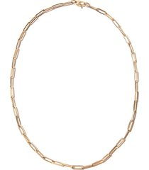 """18"""" paperclip chain necklace in yellow gold"""