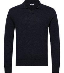 m. lars sweater gebreide trui v-hals blauw filippa k
