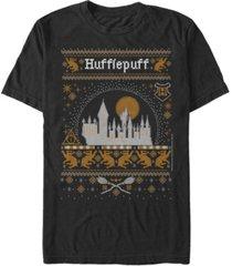 fifth sun men's hufflepuff sweater short sleeve crew t-shirt
