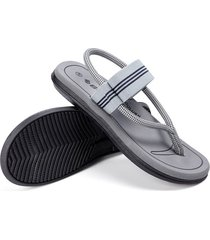 sandalias de verano antideslizantes con clip para hombre, gris