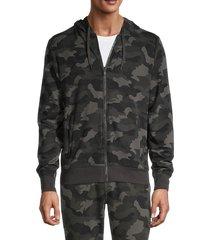 90 degree by reflex men's terry fleece camouflage zip-up hoodie - camo - size xxl