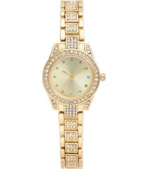charter club women's crystal gold-tone bracelet watch 27mm, created for macy's