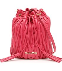 miu miu quilted bucket bag