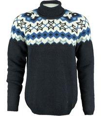 dstrezzed dikke warme blauwe trui