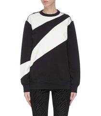 abstract zebra stripe logo print sweatshirt