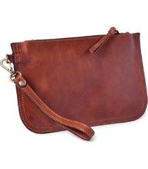 bolsa de mão mantoan  couro alça removível conforto marrom - kanui