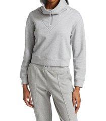 juicy couture women's high collar half zip sweatshirt - white - size m