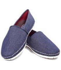 alpargata jeans italiana confort casual masculino - masculino