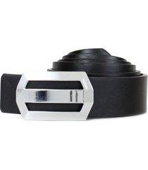 cinturon bruno negro carven