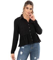 camisa atilya negro ragged pf11112228