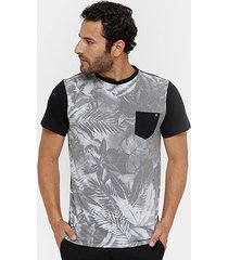 camiseta billabong black masculina