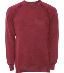 suéter opera rock tricot raglan vermelho