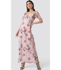 rut&circle mika long dress - pink