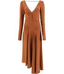 n.21 dress in crepe