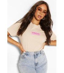 virgo traits slogan t shirt, sand