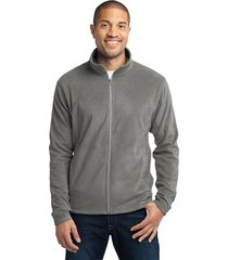 port authority f223 full-zip microfleece jacket - pearl grey