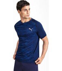 naadloos evostripe t-shirt voor heren, blauw, maat s   puma