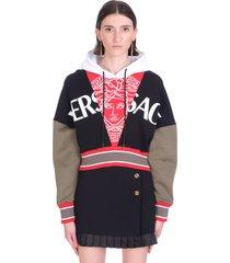 versace sweatshirt in black cotton