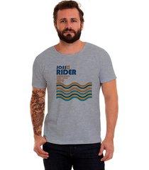 camiseta corte a fio joss santos rider mescla - kanui