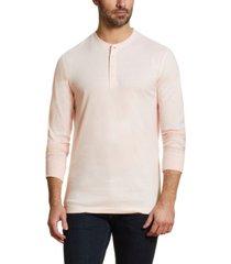 men's long sleeve brushed jersey henley t-shirt