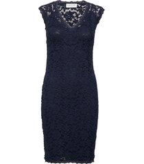 dress ss jurk knielengte blauw rosemunde