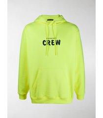 balenciaga crew print hoodie