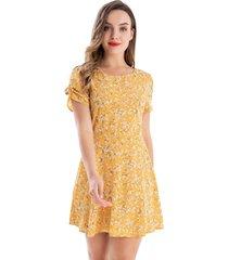 enterito tipo vestido floral amarillo nicopoly