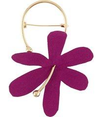 marni floral brooch - purple