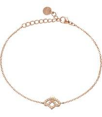 bracciale ape in argento rosato con zirconi color ambra per donna