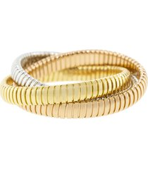 tri-color rolling band bracelet
