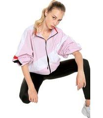 chaqueta rosado-blanco reebok