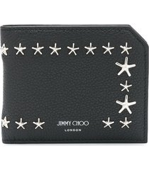 jimmy choo star studded wallet - black