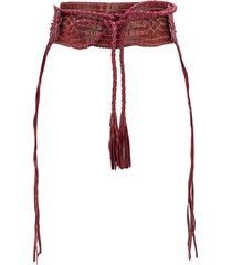 gianfranco ferré pre-owned 1990s stitched tassel belt - red