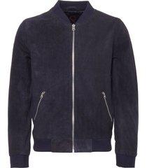 human scales dark blue double texture suede russel jacket ja170124