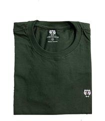 camiseta cuello redondo hombre - color verde con blanco