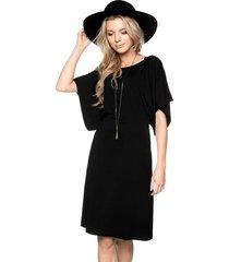 sukienka z szerokimi rękawkami czarna