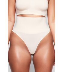 plus size women's skims core control thong, size 4x/5x - beige