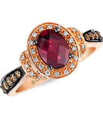 14k strawberry gold® raspberry rhodolite® chocolatediamonds® & vanilla diamonds® chocolatier® ring