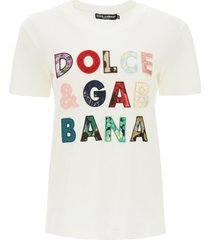 dolce & gabbana patchwork embroidery t-shirt