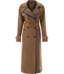 marco de vincenzo trench coat with lurex hems