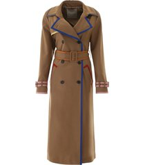 marco de vincenzo trench coat with lurex hems