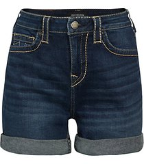 jennie mid-rise denim shorts