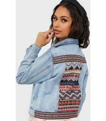 jacqueline de yong jdygame life jacket back detail lb jeansjackor